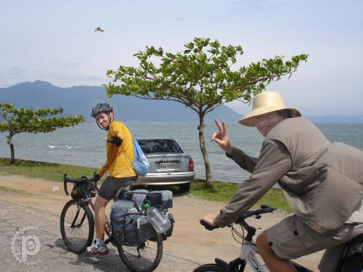Pedal-empurral ao camping em Naufragados