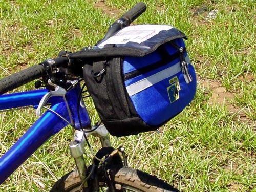 Bolsa de guidão 7L AraraUna com o porta Mapas