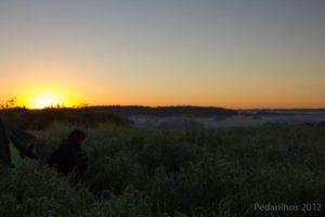 Amanhecer as 7:20 em Campos Novos - SC - Brasil