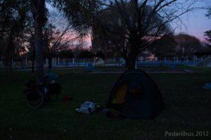 No meio da Argentina, as planícies sem fim...