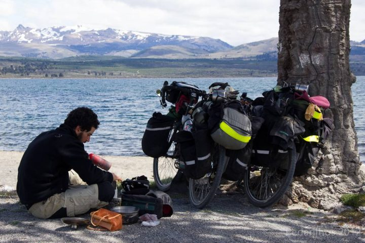Polenta na beira do Lago aluminé