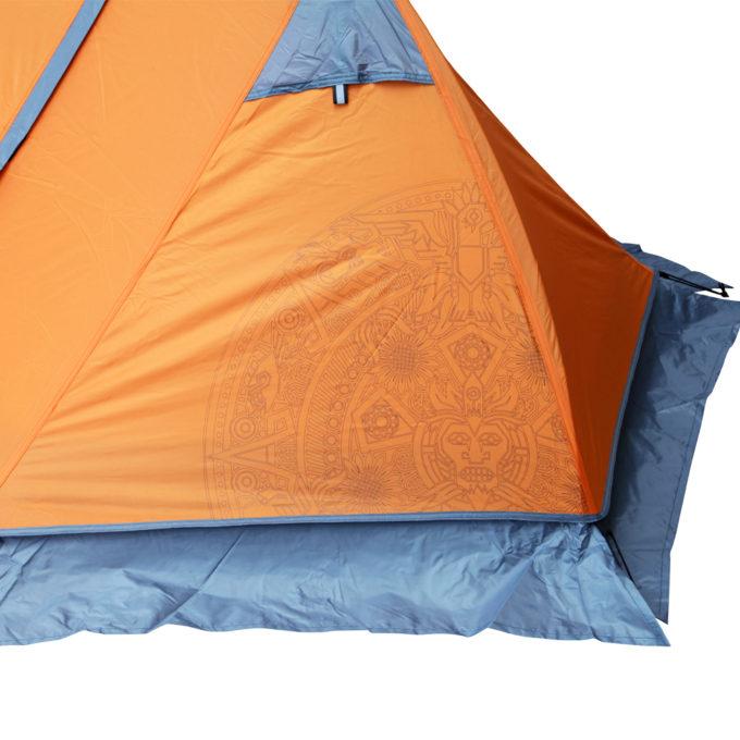 Detalhe tecido barraca Azteq Mini Pack