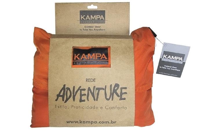 Rede Kampa em sua bolsa, na cor laranja