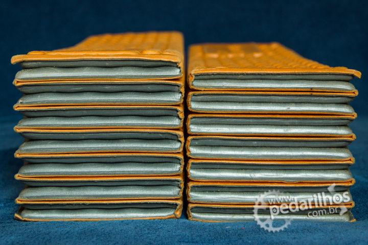 Isolante Térmico Therm-a-Rest Z-Lite: Os mesmos isolantes, comprados na mesma loja, com mesmo tempo de uso, diferença no peso e na espessura depois de 2 anos de uso.