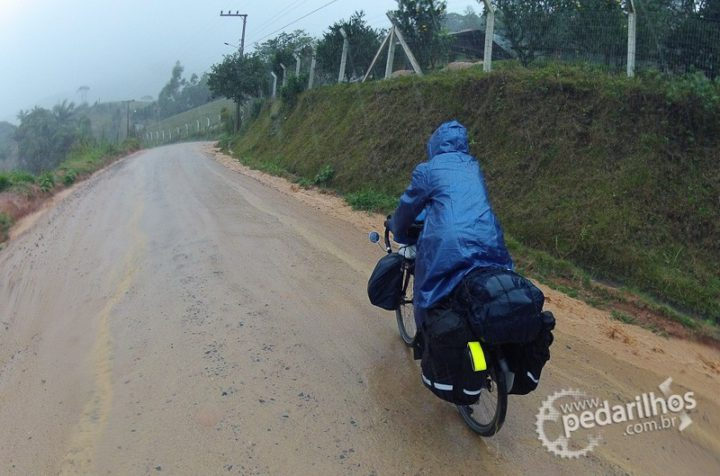Logo no primeiro dia de viagem muita chuva!