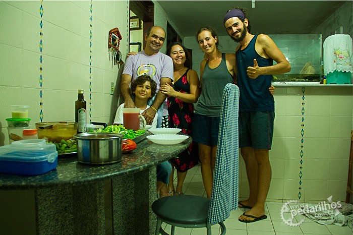 Preparamos um jantar bem saudável e delicioso junto com a família França, primeira vez que experimentamos o cará (que aqui é conhecido por inhame São Tomé). O pessoal aprovou!