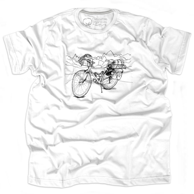Camiseta Cicloturismo Masculina Branca