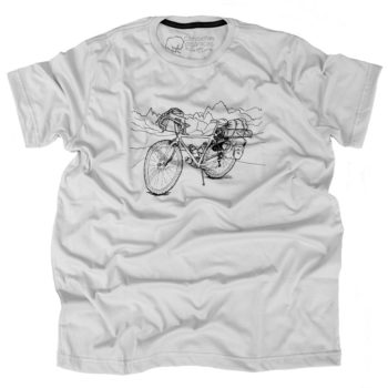 Camiseta Cicloturismo Masculina Cinza Claro