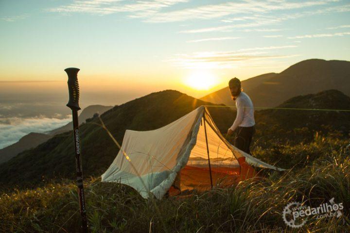 Acampamento improvisado depois do pico Luar.