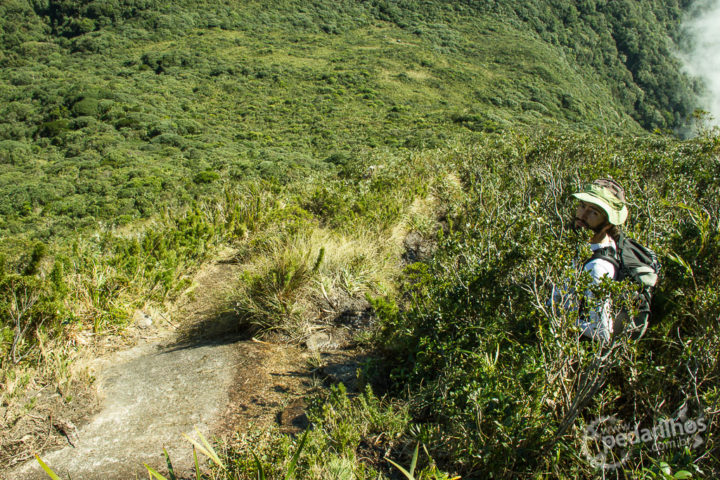 Subida pro cume do Ciririca sem via ferrata, é só no agarra mato mesmo.
