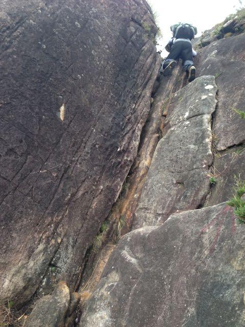 Trecho de escalaminhada sem corda