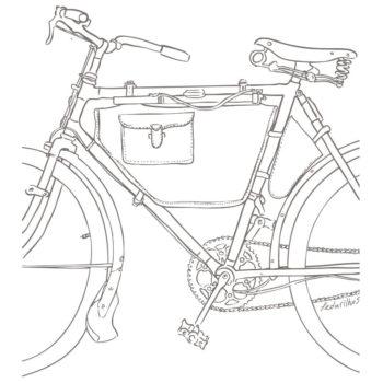 Estampa Bicicleta Antiga