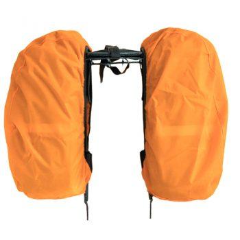 Capa de chuva para alforges pequenos - laranja