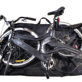 Com a bike semi desmontada e posicionada
